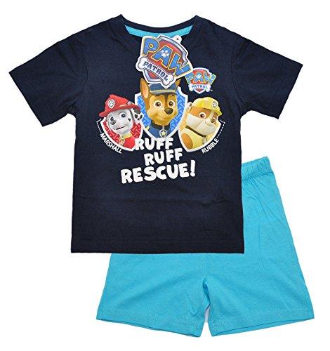 Pijama de manga corta con licencia oficial de la Patrulla Canina para niños y niñas de 2 a 8 años Diseño 5 110 cm