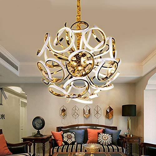 YAZHI-MILA Ceiling Lamp for Kitchen Led Ceiling Lamp Modern Simple Stylish Globe Design Living Room Restaurant Indoor Lighting led Lights (Body Color : White, Size : Warm)