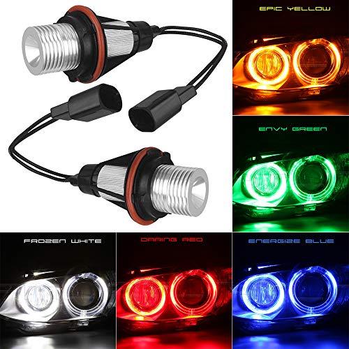 ePathChina 2pcs Error Free LED Angel Eyes Marker Lights Bulbs Compatible for BMW E39 E53 E60 E61 E63 E64 E65 E66 E87 525i 530i xi 545i M5 (White)