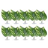 XiangXin Hoja de Planta de Hamaca, Hamaca de Hoja Artificial de Forma Especial, Acuario de Cama de Almohadilla de Hoja de Planta de Cemento de plástico para pecera de Reptiles