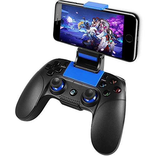 Mobile Game Controller, PowerLead PG8718 Wireless 4.0 Game Controller Compatible with iOS Android iPhone iPad Samsung Galaxy(Does not Support Above iOS 13.4)
