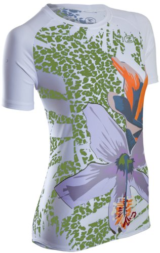Sugoi Casablanca Short Sleeve - Maillot de Ciclismo, Color Verde, Talla M