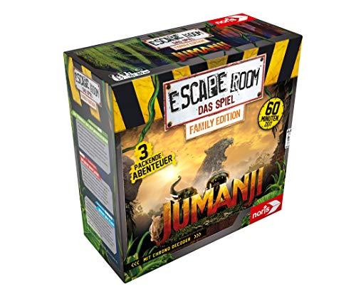 Noris 606101837 - Escape Room Jumanji (Family Edition) - Familien und Gesellschaftsspiel für Erwachsene und Kinder, inkl. 3 Fällen und Chrono Decoder, ab 10 Jahren
