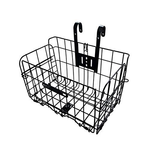 Folding Bike Basket,Lift-Off Front Bike Basket with Handles - Rust Proof Easy Installation on Front Handlebar - Bike Basket Bicycle Bag Cargo Rack for Mountain Bike Accessories