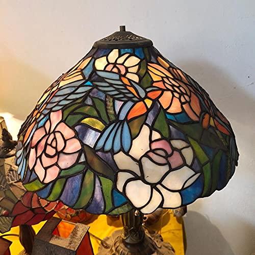 16 pulgadas 40 cm de estilo europeo lámpara de mesa vertical de pie lámpara de pie retro arte manchado de cristal, lámparas de barra creativa-otro_Ginger 09- Lámpara - Diámetro es de unos 40