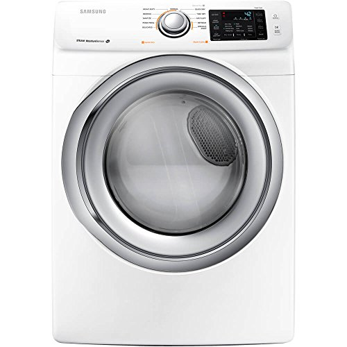 Samsung DV42H5200GW 7.5 Cu. Ft. Front-Load Gas Steam Dryer with Sensor Dry, White