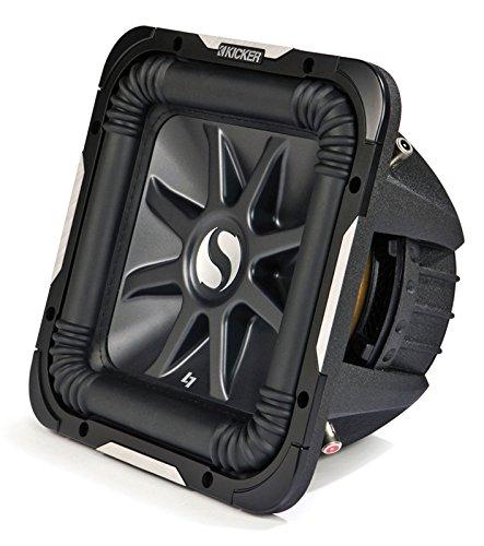 Kicker S15L7 Car Audio Solobaric L7 Square 15' Sub Dual 4 Ohm 2000W 11S15L74 Subwoofer L7S15