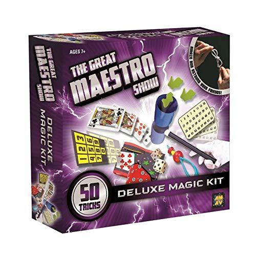 Kit de Mágica MultiMagic Deluxe com 50 Truques Indicado para +7 Anos, Multikids, Multicor