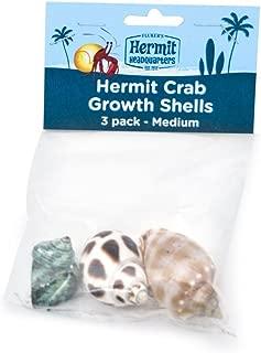 Fluker's Hermit Crab Growth Shells, Medium, 3-Pack