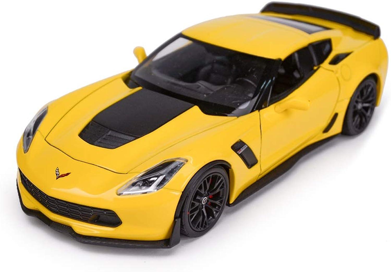 HTDZDX Auto-modellolo in Scala 1 24 Corvette Auto modellolo, Auto Giocattolo modellolo simulatore Regalo per Bambini, 18,7x9x5,3 cm