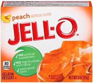 Jell-o, Gelatin Dessert, Peach (Pack of 4)