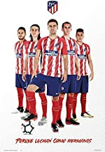 Atletico De Madric - Soccer/Sports Poster/Print (The Star Players - Season 2017/2018) (Size: 24 inches x 36 inches)