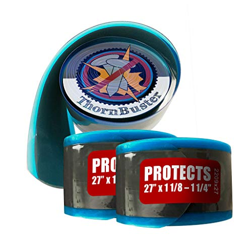 """Thorn Buster, Inner Tube Protecting, Bicycle Tire Liners Pair - Stop Flats for Road Sport and Endurance Bikes Using red 27 x 1 1/4' - 1 1/8"""" / 700c x 28-35 Bike Tires and Tubes (2 Liners)"""