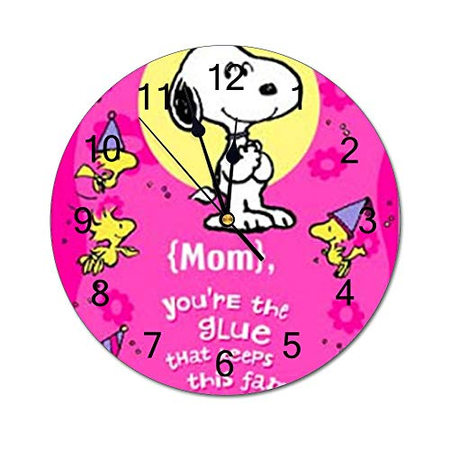 YOKJLDH Snoopy & Woodstock - Reloj de pared de PVC, diseño de Snoopy y Woodstock