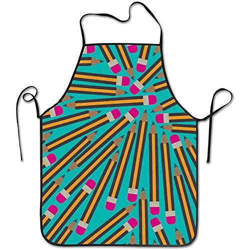 GWrix Keukenschort nekband, instelbare taille, schort voor potloden, grillschort, waterdicht BBQ-schort
