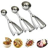 Best Cookie Scoops - Cookie Scoop Set, 3 PCS Ice Cream Scoop Review