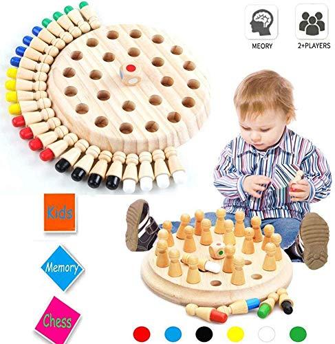 T.Face Memory Match Stick Chess, Juego de Fiesta para niños Wooden Memory Match Stick Juego de ajedrez Diversión Bloque Juego de Mesa Juguete Educational Parent-Child Leisure Fun Toy