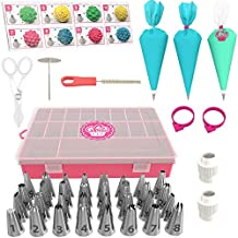 Cake Decorating Supplies Kit 52 pcs - Mint Version - Icing Piping bags and Tips Cupcake Decorating Kit with 12 Frosting bags and 32 Numbered Tips - Baking Supplies and Frosting Tools Set