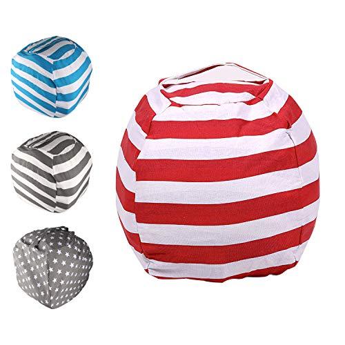 Spielzeug Aufbewharungstasche, Sitzsack Aufbewahrung, Kinder Sitzsack, Kuscheltier Aufbewahrung, Sitzsack Spielzeug Aufbewahrungstasche mit Reißverschlus 24 inch  für Kleidung,Spielzeug & Täglichen