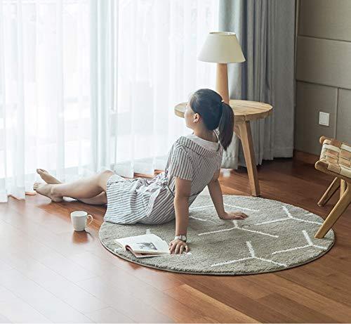 Alfombra Redonda Dormitorio Nordic Lindo Salón Junto A La Cama IKEA con...