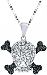 Best diamond skull pendant Reviews