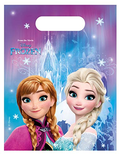 Procos 46796 86918 - Partytüten Frozen Northern Lights, 6 Stück, Eiskönigin, Anna, Elsa, Mitgebsel, Kindergeburtstag