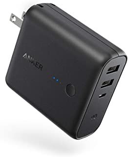 Anker PowerCore Fusion 5000, Portable Charger 5000mAh 2-in-1 with Dual USB Wall Charger, Foldable AC Plug and PowerIQ, Bat...