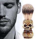 Pennello da barba di lusso per uomo, con teschio, parrucchiere, barba, regalo per uomo