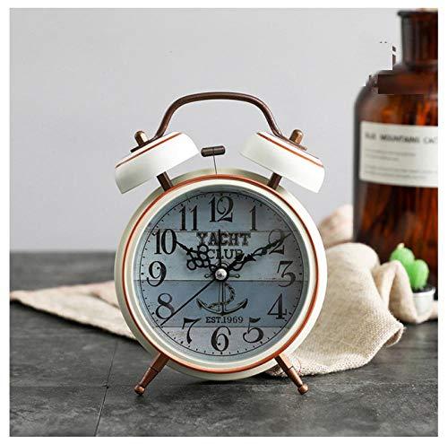 FPRW Retro wekker, snooze desktop klok wekker weklicht, elektronisch nachtkastje, ouderwets, nooit verouderd, wooncultuur, anker