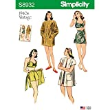 Simplicity Sewing Pattern S8932 D5 Misses' Vintage Bikini Top, Shorts, Wrap, Skirt and Coat, Size 4-12
