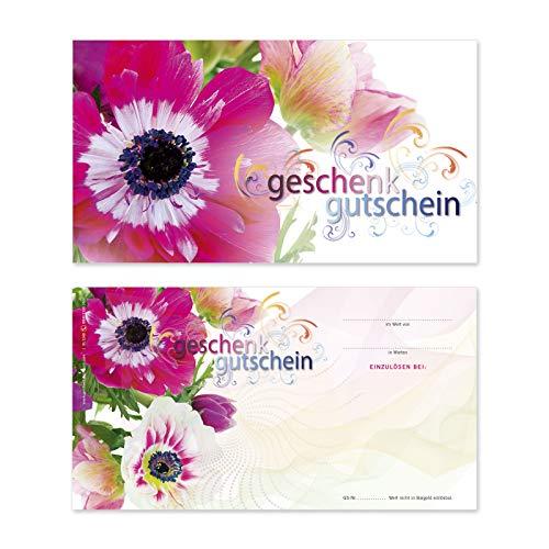50 hochwertige Gutscheinkarten Geschenkgutscheine. Gutscheine für Blumenhandlung Blumengeschäft. Floristikgutschein. Vorderseite hochglänzend. BL1240