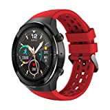 IP67の防水機能が互換性のある機能トラッカー1.3インチタッチスクリーンと互換性のある男性と女性のためのスマートな時計継続的な心拍数モニターを持つスマートな腕時計,赤