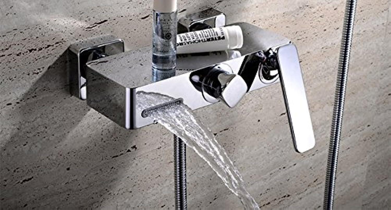 Galvanik Retro Wasserhahn 2016 Grohandel einzigartige Patent Design aus massivem Messing Panel In-Wall montiert Mischbatterie Dusche Badewanne mit Handdusche Wasserhahn, tippen Sie aufLschen