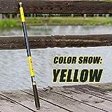 YMYGCC Caña de Pescar 3,6/4,5/5,4/6,3/7,2 Metros Corriente de Mano de Poste de Fibra de Carbono de fundición telescópica cañas de Pescar Pescado trastos (Color : Yellow, Length : 3.6 m)