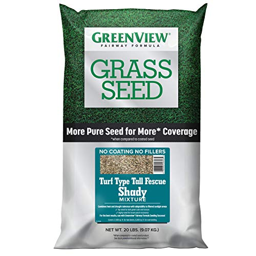 GreenView 2829351 Turf Type Tall Fescue Shady Mixture Fairway Formula Grass Seed, 20 lb
