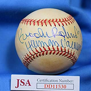 BROOKS ROBINSON Human Vacum JSA Cert Autograph American League Signed BasebaLL