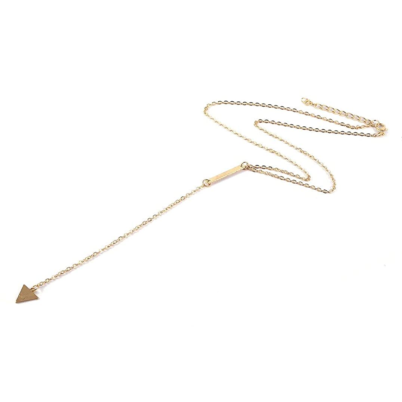 万一に備えて地下鉄騙すSwiftgood 洗練された合金ペンダントネックレス女性のための長いチェーンペンダント装飾とファッションチャームジュエリー黄金色