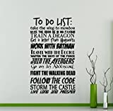 to Do List Wall Decal Popular Quotes Geek Decor Avengers Walking Dead Star Wars Geekery Sign Motivational Word Cloud Vinyl Sticker Gift Decor Room Wall Art Stencil Decor Mural Removable Poster 57me