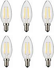 SGJFZD E14 LED Filament Candle Light Bulb,3V 100ma 200ma 280ma 380ma,Warm White 2800K 180LM,C35 Clear Glass for Solar Powe...