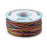 280m 30awg cavo avvolgente colorato di isolamento p/n b-30-1000 cavo solido in rame stagnato cavo di prova colorato