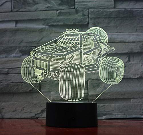 Qhrdp Nachtlichter & Schlummerleuchten Dune Buggy Strand Nachtlicht Led 3D Illusion Led Farbverlauf...
