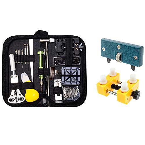 Queta kit di Riparazione Orologio e Attrezzi di Apertura Orologi, Strumenti Orologi Kit Riparazione Orologi, Kit di Strumenti di Riparazione Professionale con Custodia da Trasporto