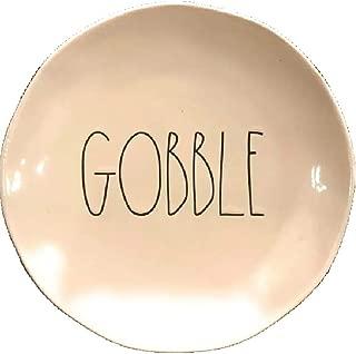 """Rae Dunn Gobble Dinner Plate 10"""" Thanksgiving Serving Platter"""