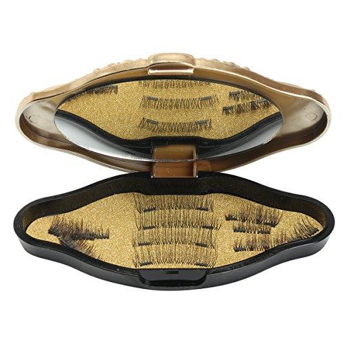 SS1044159-20cm Inovey Deux Faux Cils Magnétiques 3D avec Miroir