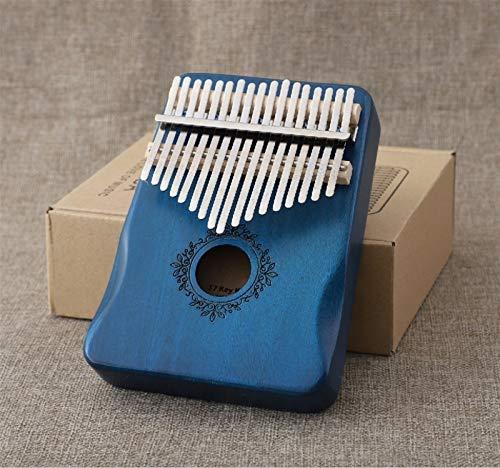 Kalimba, Daumenklavier 17 Tasten kalimba Perfekte Stulpen Klavier Mahagoni Musikinstrument Anfänger mit Holz akustischen Musik Zubehör (Color : Royal blue)