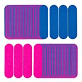 SMTHOME 200 Pieces Mini Nail Files Bulk Disposable Double Sided Emery Boards 180/180 Grit Pedicure Buffering File Home or Professional Manicure Boards for Natural Acrylic Fake Nails (Blue and Pink)