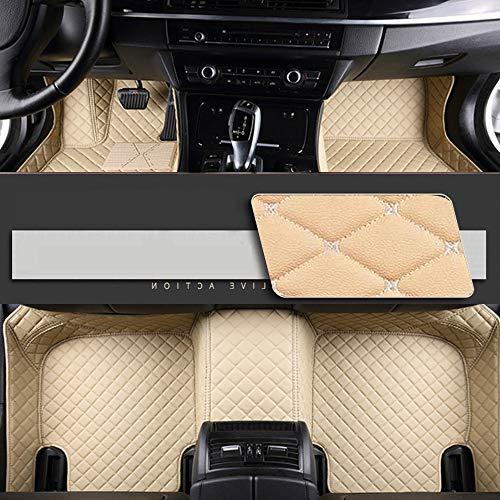 8X-SPEED Alfombrillas Coche de Cuero para For BMW Serie 4 F32 F33 F36 (4-Puertas)(Edición Confort) 2013-2018 Protección Alfombras de Cobertura Completa Antideslizante Moqueta Beige