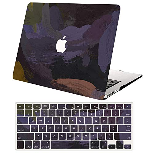 AJYX MacBook Air 11 Inch Case A1370 A1465,Plastic Hard Shell Case Cover with Keyboard Cover for Laptop Mac Air 11,Dark Purple painting