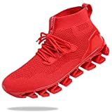 TSIODFO Sneakers for Men Sport Running Shoes Athletic Tennis Walking Shoes Jogging Fashion Sneaker Mesh Breathable Red Size 11