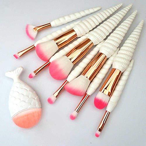 MEIMEIDA Maquillage du visage Conque Shell Maquillage Pinceaux Fondation Poudre Cosmétique Fard À Paupières Visage Maquillage Outils Kit, 11 Pcs